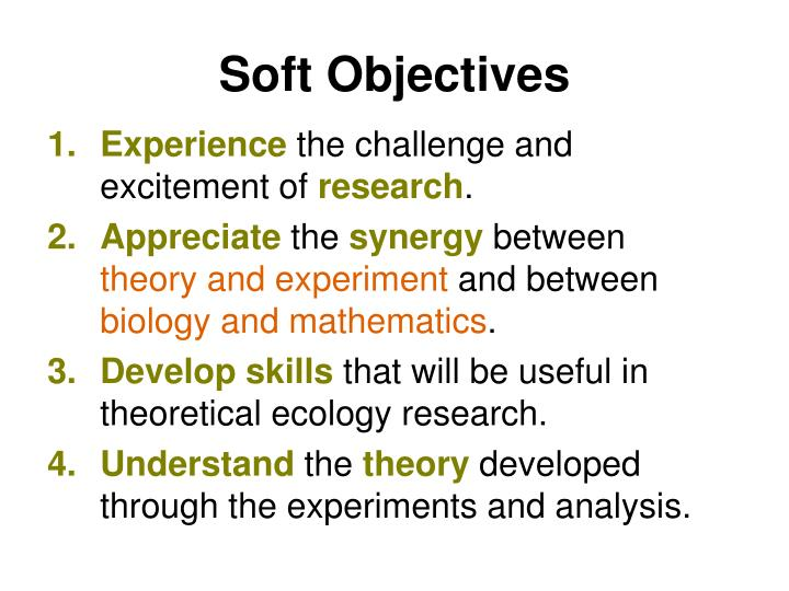 Soft Objectives