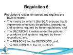 regulation 6