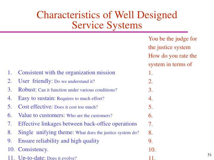 Characteristics of Well Designed