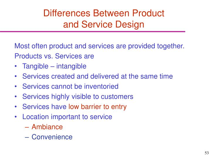 Differences Between Product