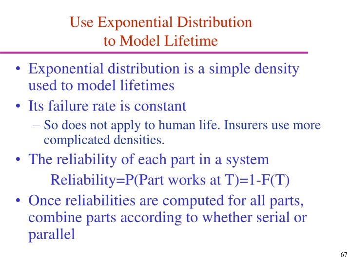 Use Exponential Distribution