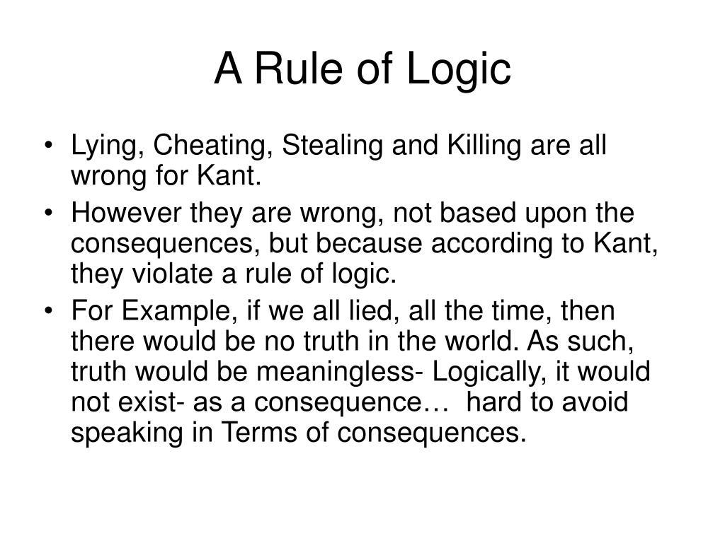 A Rule of Logic