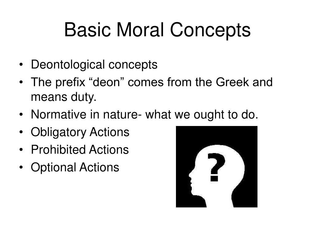 Basic Moral Concepts