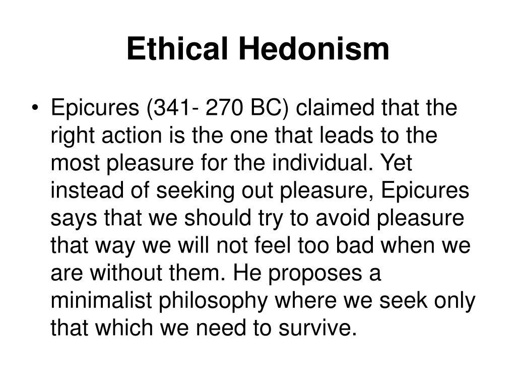 Ethical Hedonism