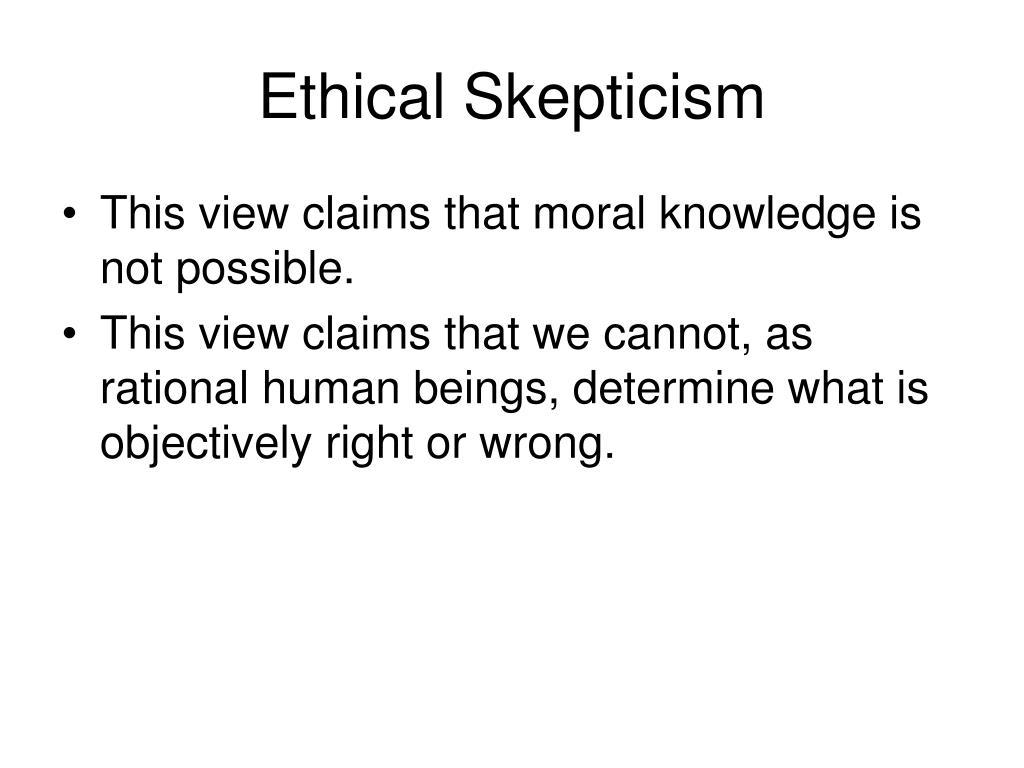 Ethical Skepticism