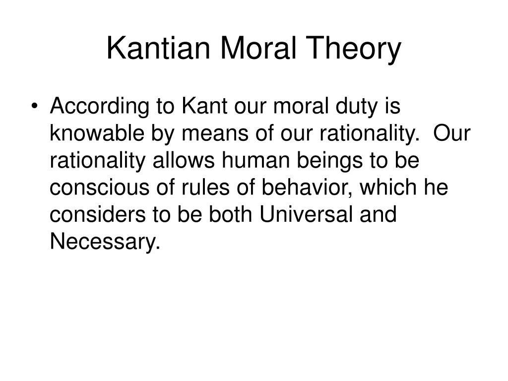 Kantian Moral Theory