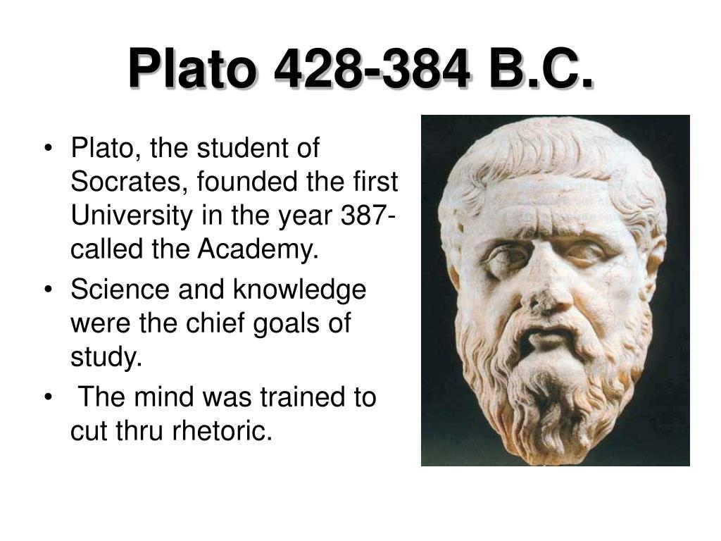 Plato 428-384 B.C.