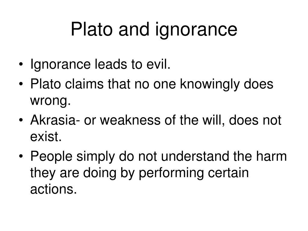 Plato and ignorance