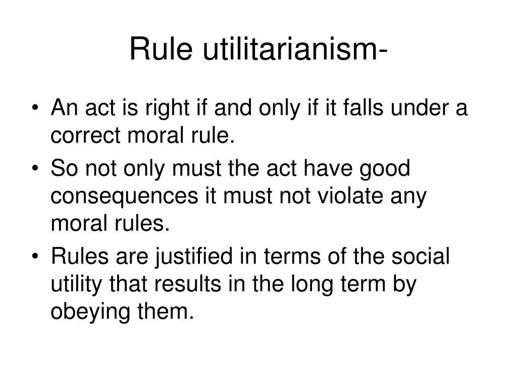 Rule utilitarianism-