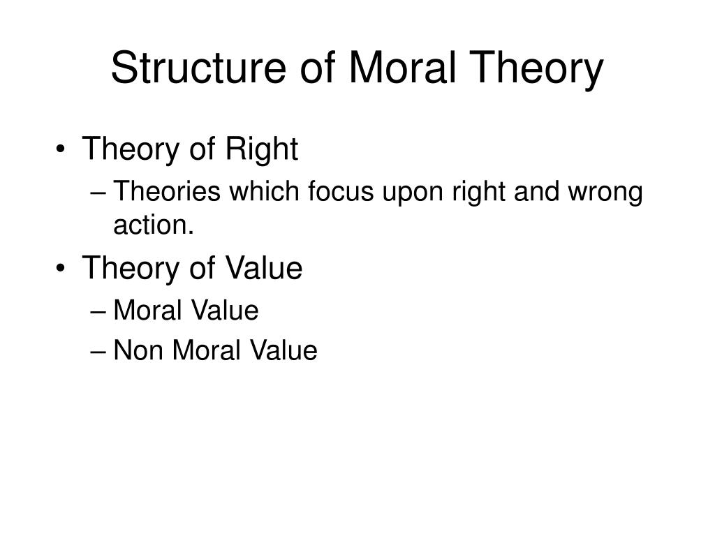 Structure of Moral Theory