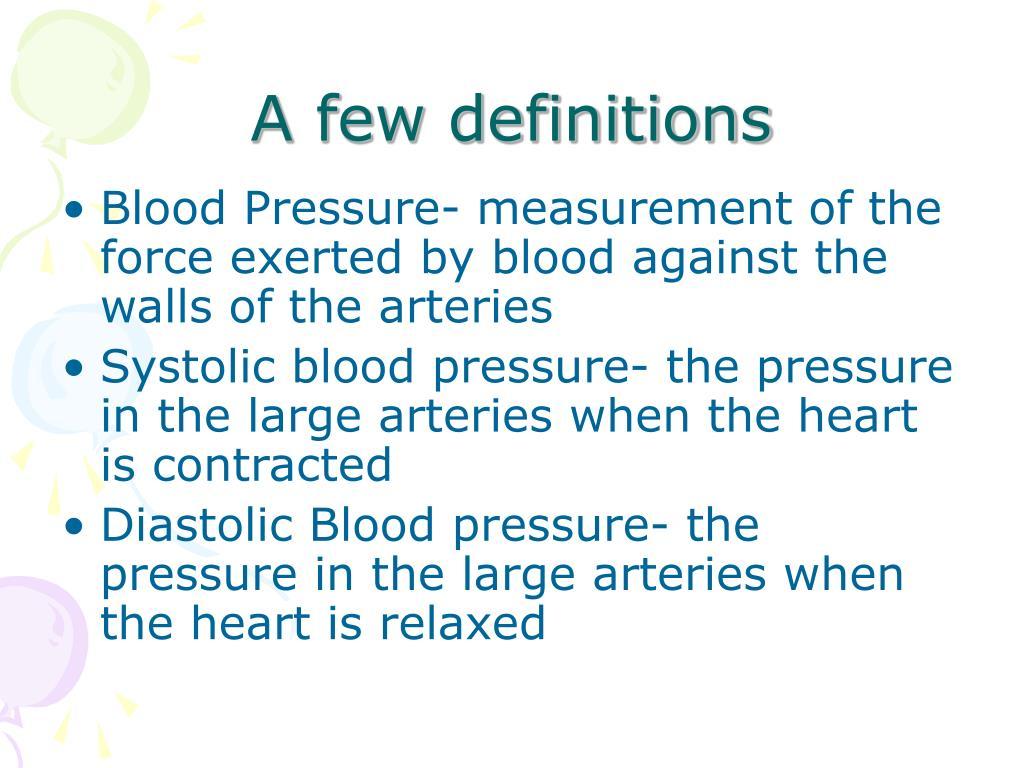 A few definitions
