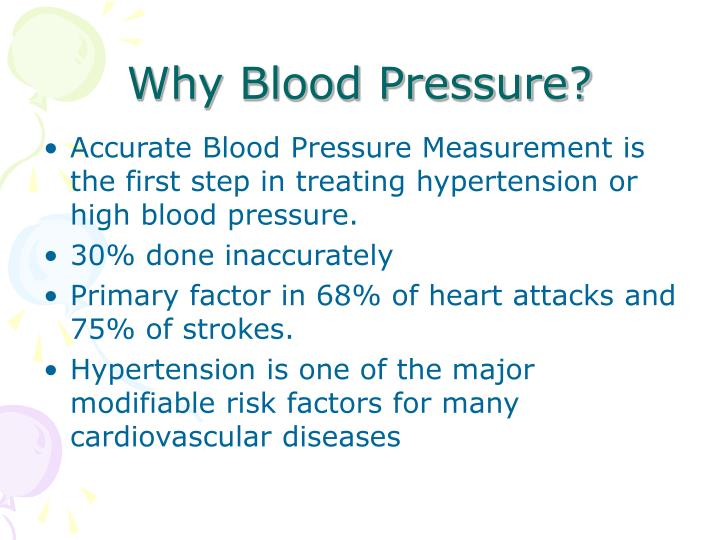 Why blood pressure