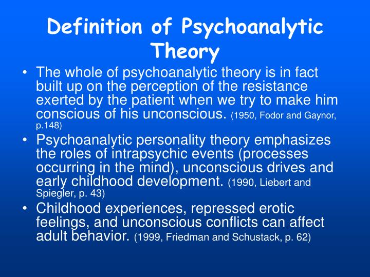 Definition of Psychoanalytic Theory
