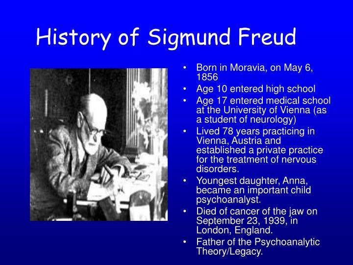 History of Sigmund Freud