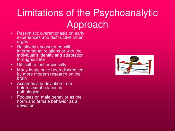 Limitations of the Psychoanalytic Approach
