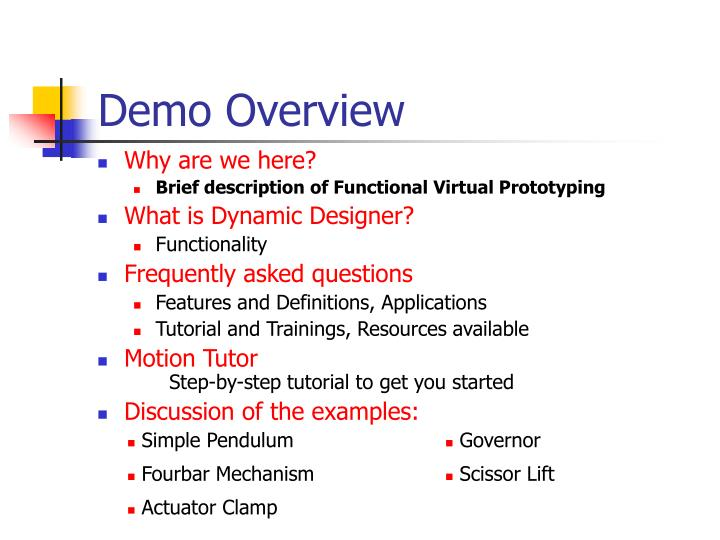 Demo overview