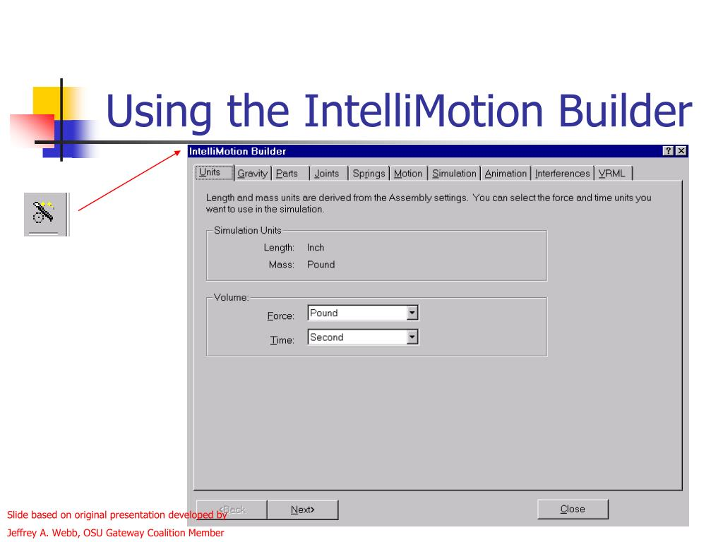 Using the IntelliMotion Builder