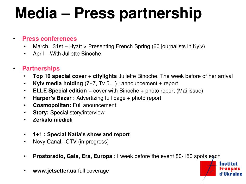 Media – Press partnership