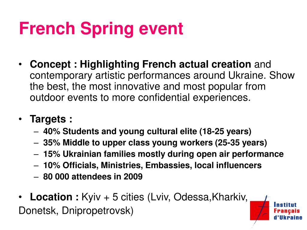 French Spring event