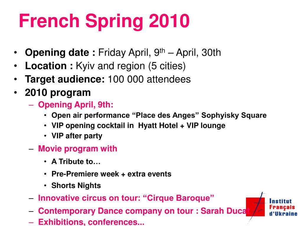 French Spring 2010