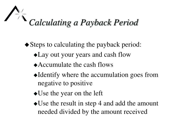 Calculating a Payback Period