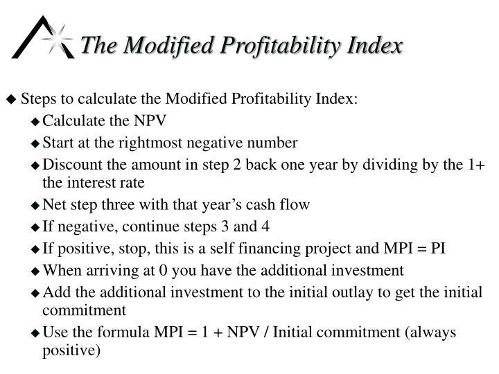 The Modified Profitability Index