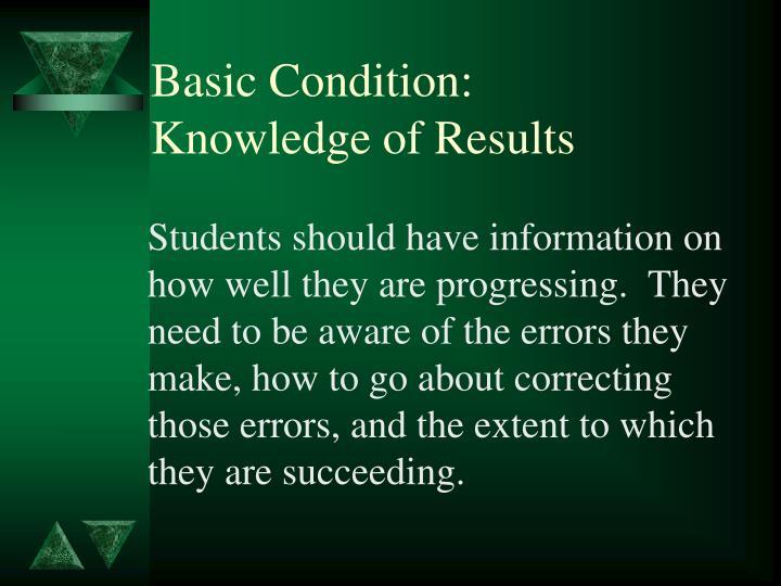 Basic Condition: