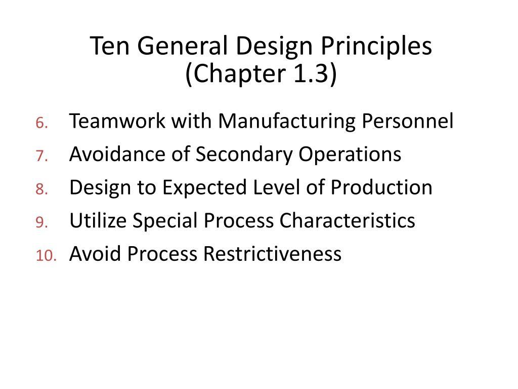 Ten General Design Principles