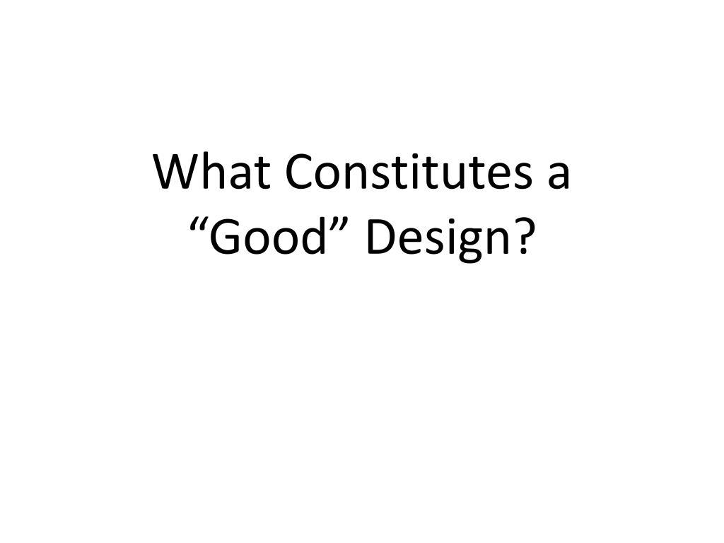 What Constitutes a