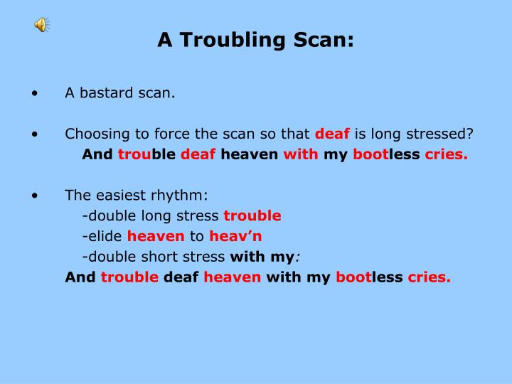 A Troubling Scan: