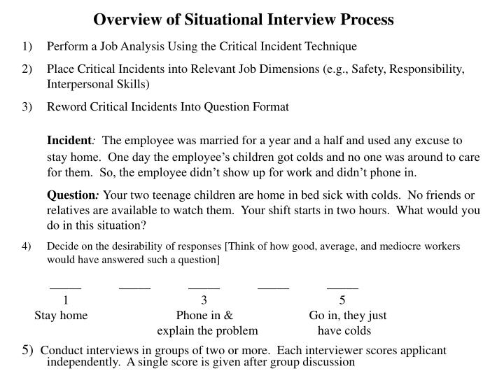 Overview of Situational Interview Process