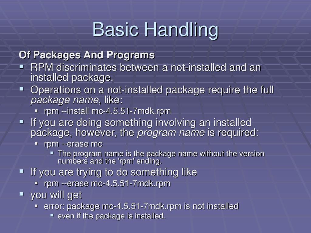 Basic Handling