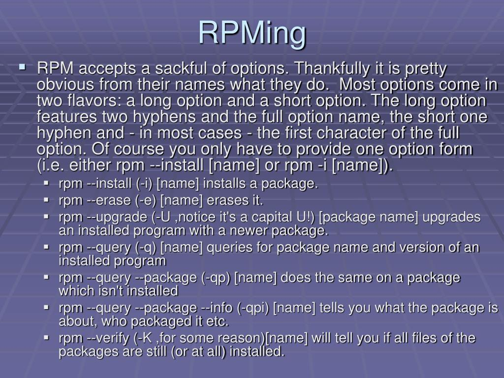 RPMing