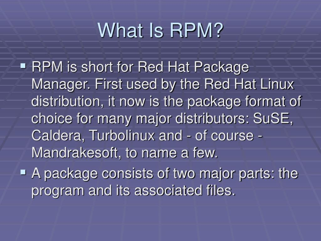 What Is RPM?