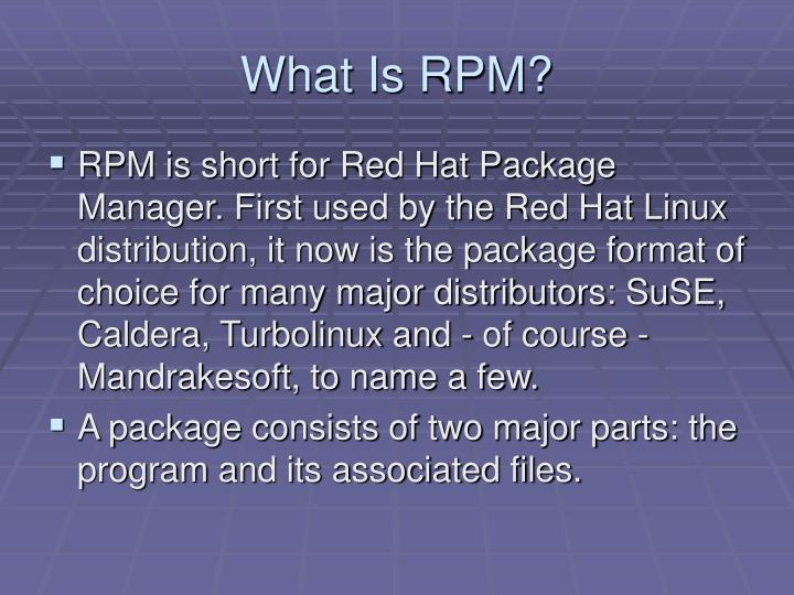 What is rpm