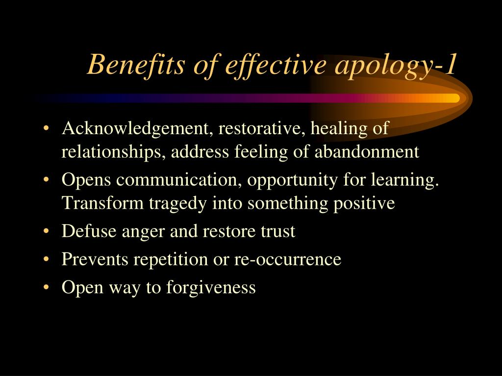Benefits of effective apology-1