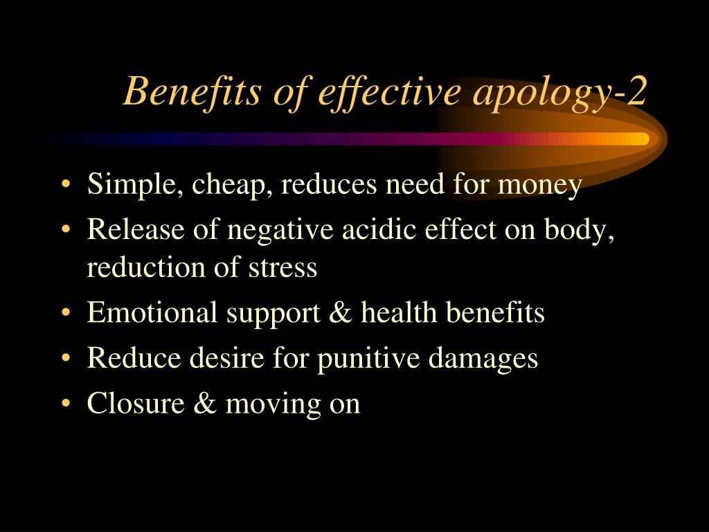 Benefits of effective apology-2