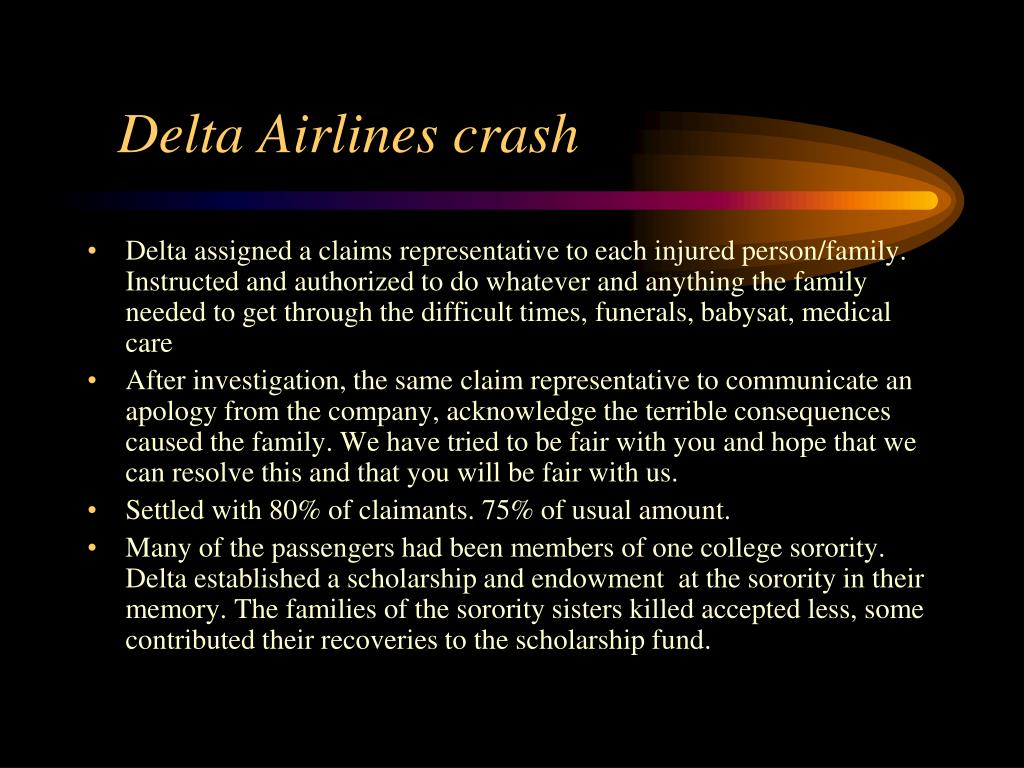 Delta Airlines crash