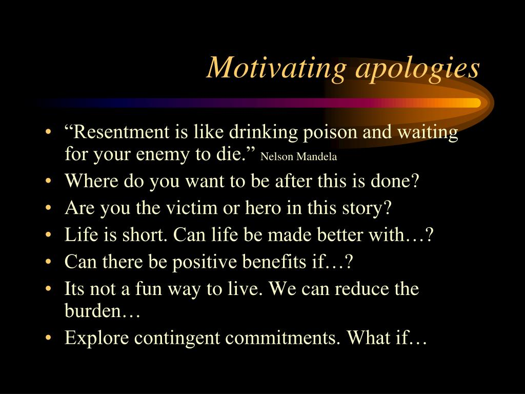 Motivating apologies