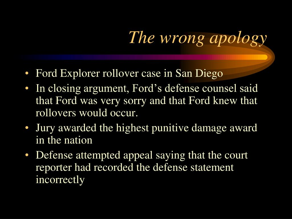 The wrong apology