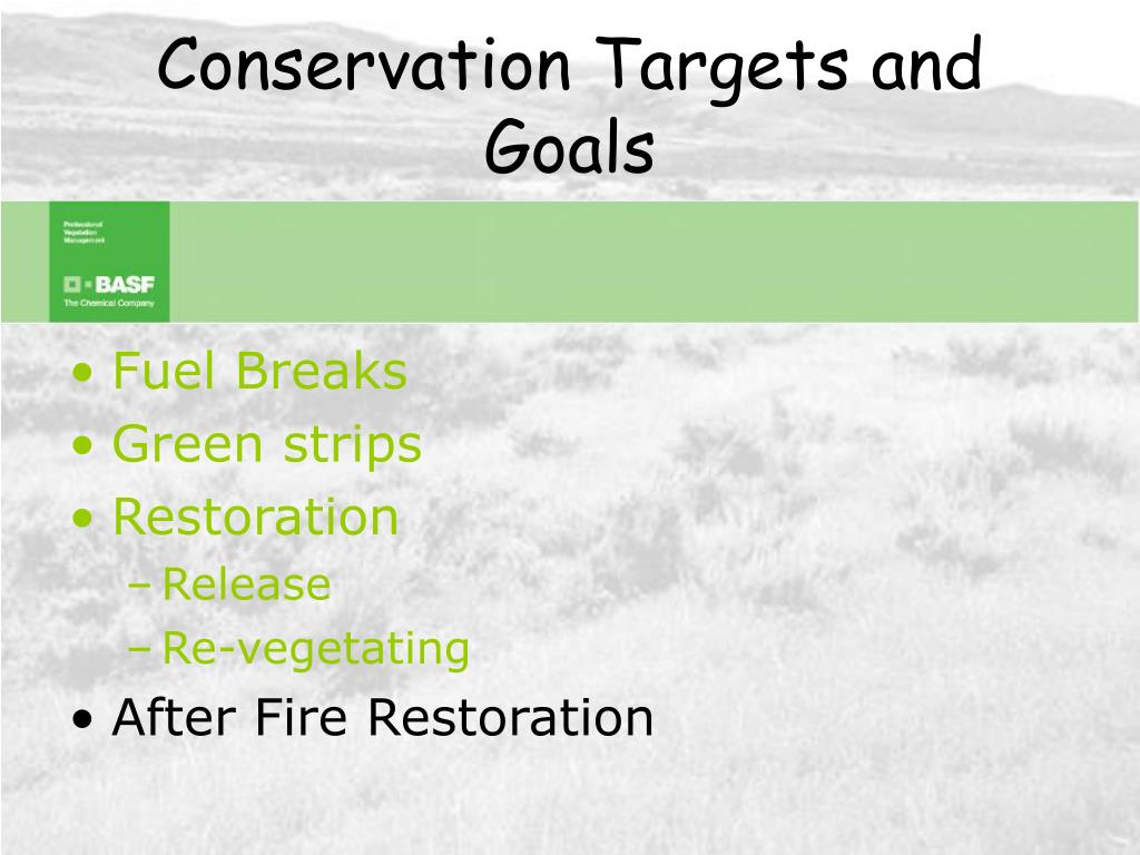 Conservation Targets and Goals