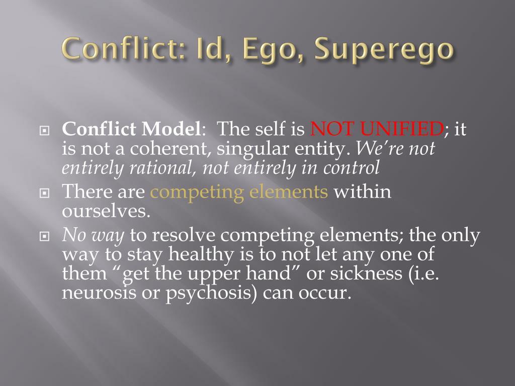 Conflict: Id, Ego, Superego