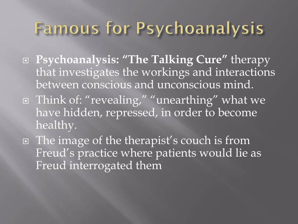 Famous for Psychoanalysis