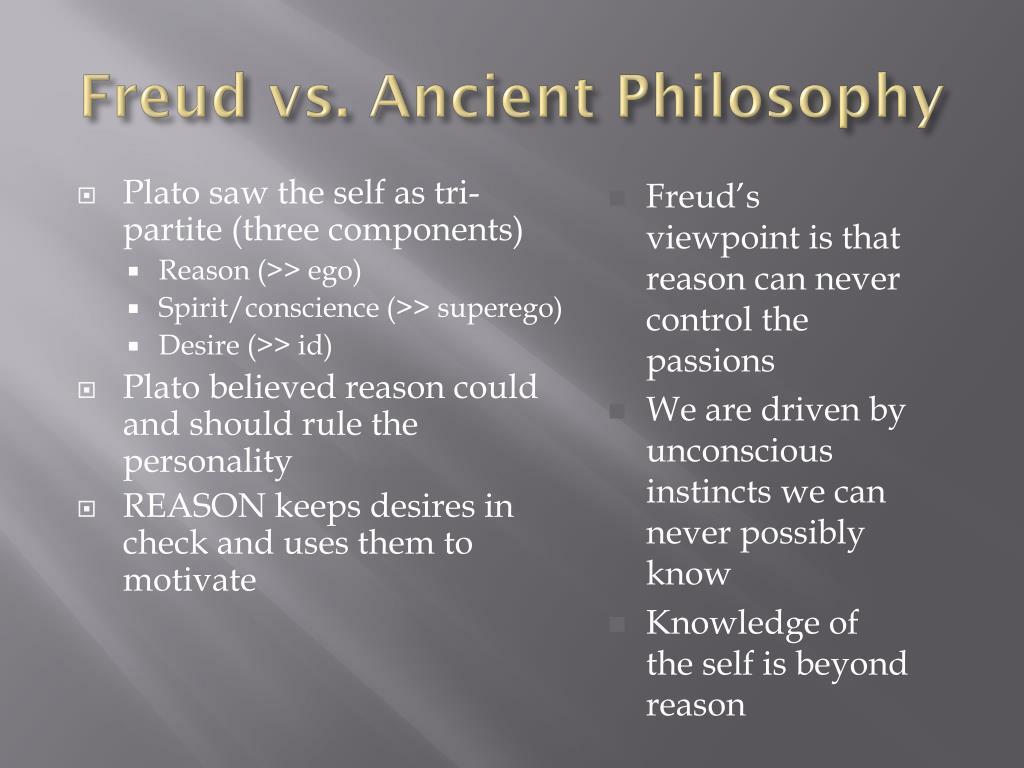 Freud vs. Ancient Philosophy