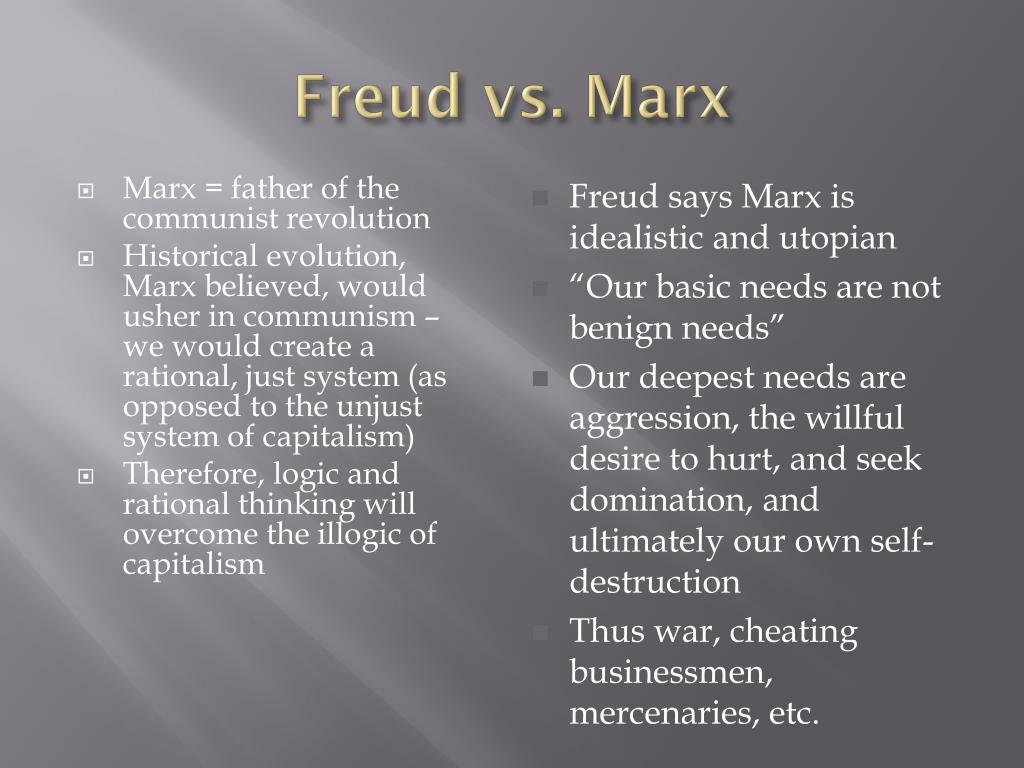 Freud vs. Marx