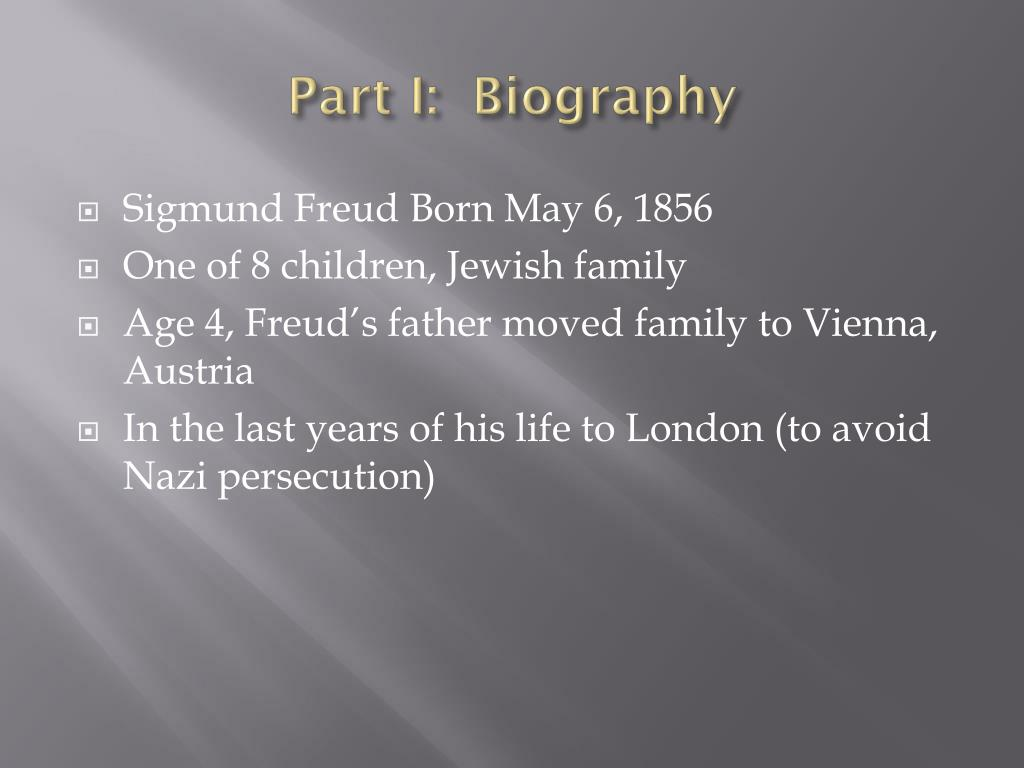 Part I:  Biography