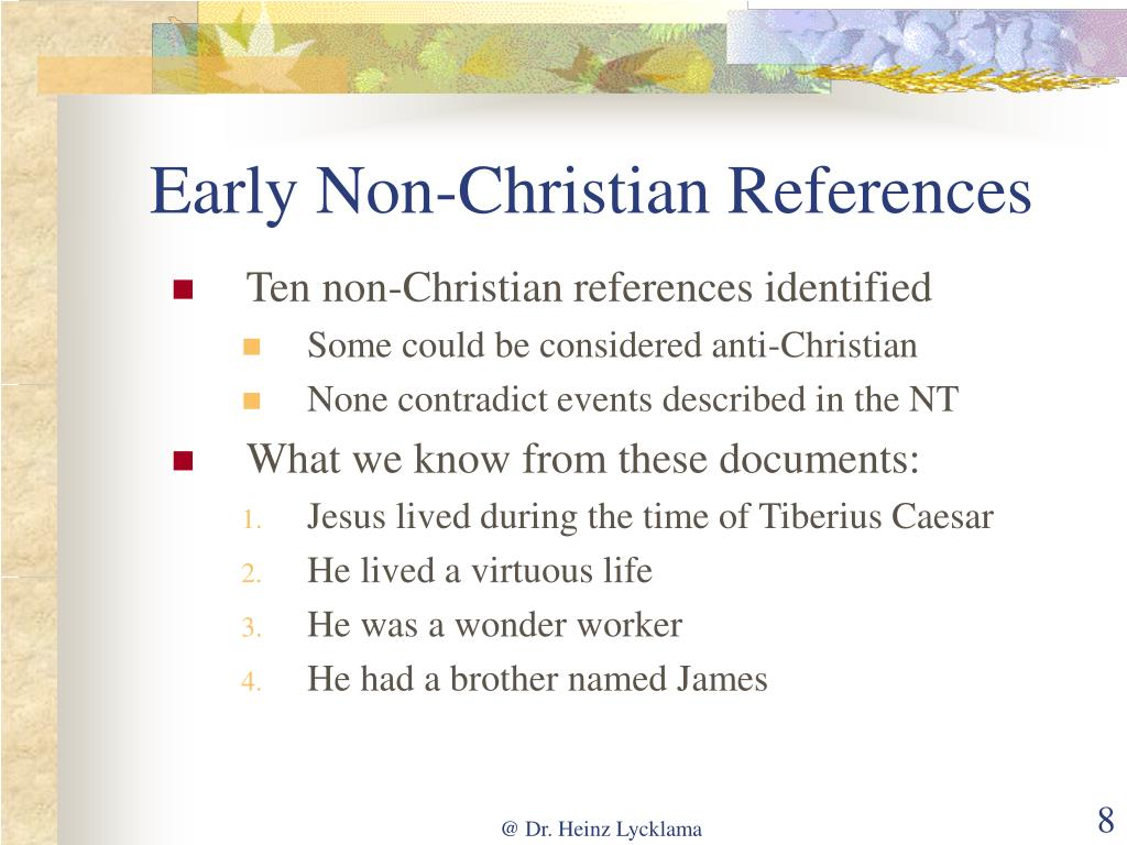 Early Non-Christian References