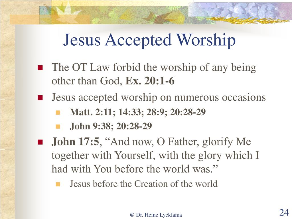 Jesus Accepted Worship