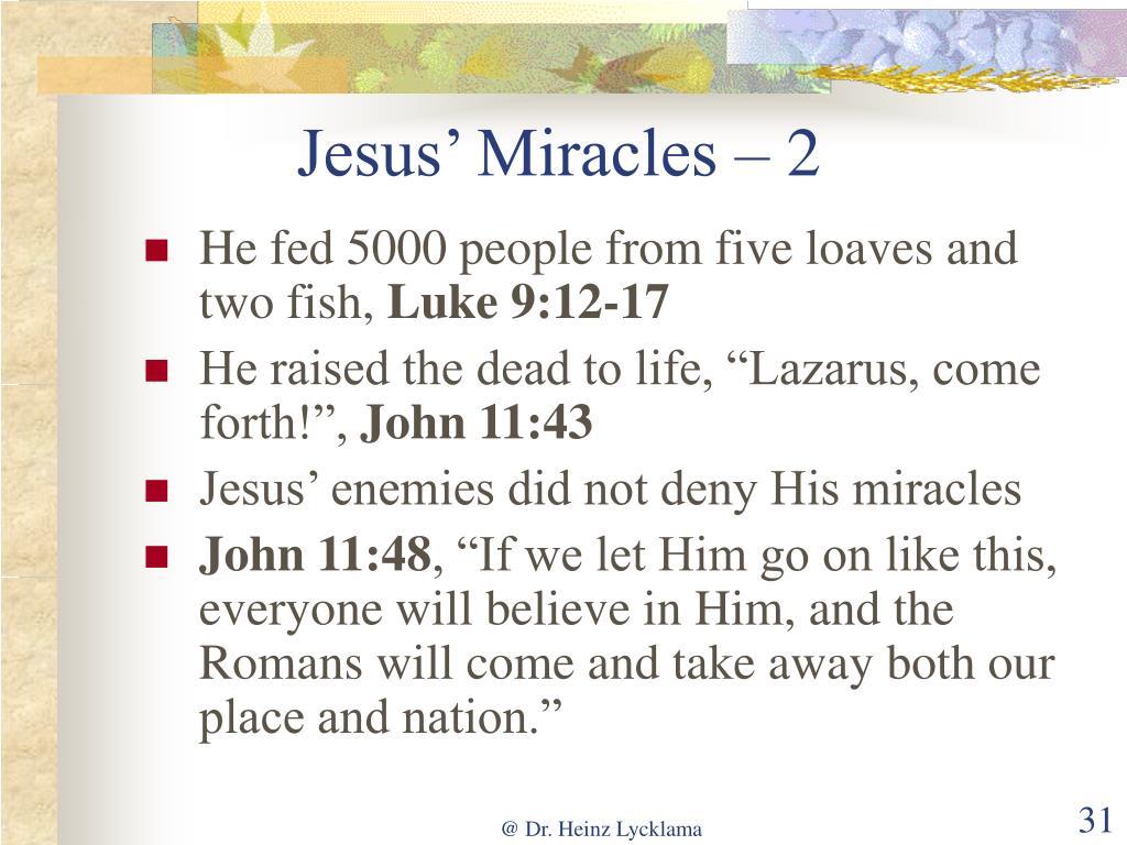 Jesus' Miracles – 2