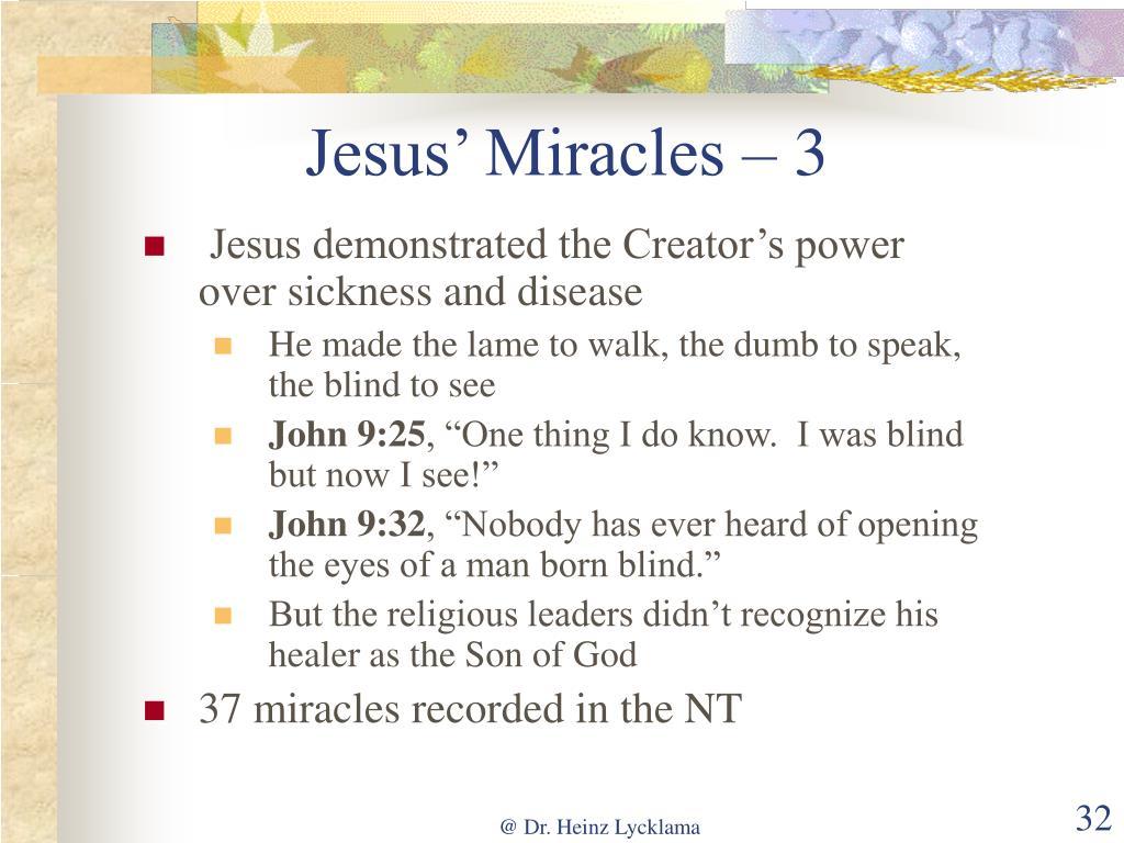 Jesus' Miracles – 3